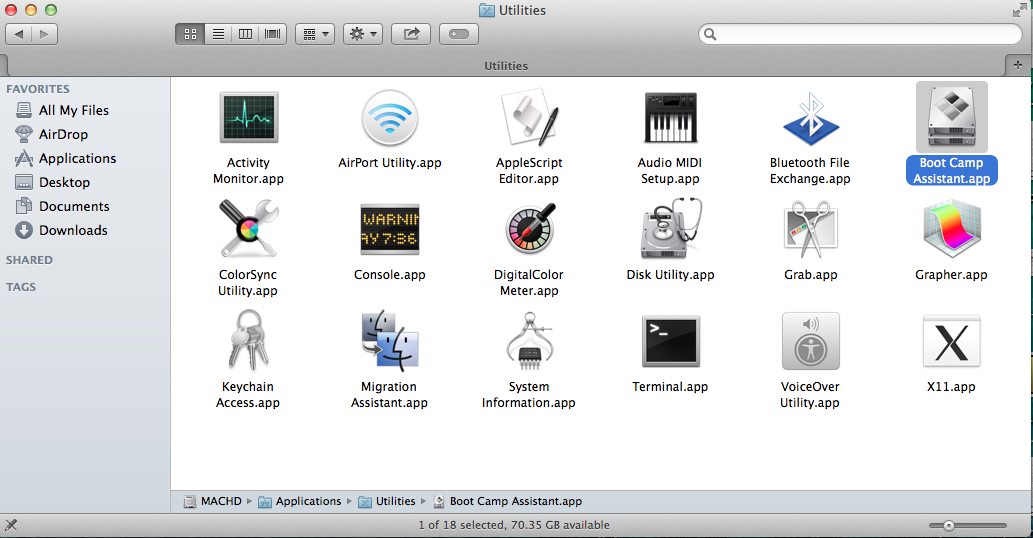 make bootable windows usb mac os x
