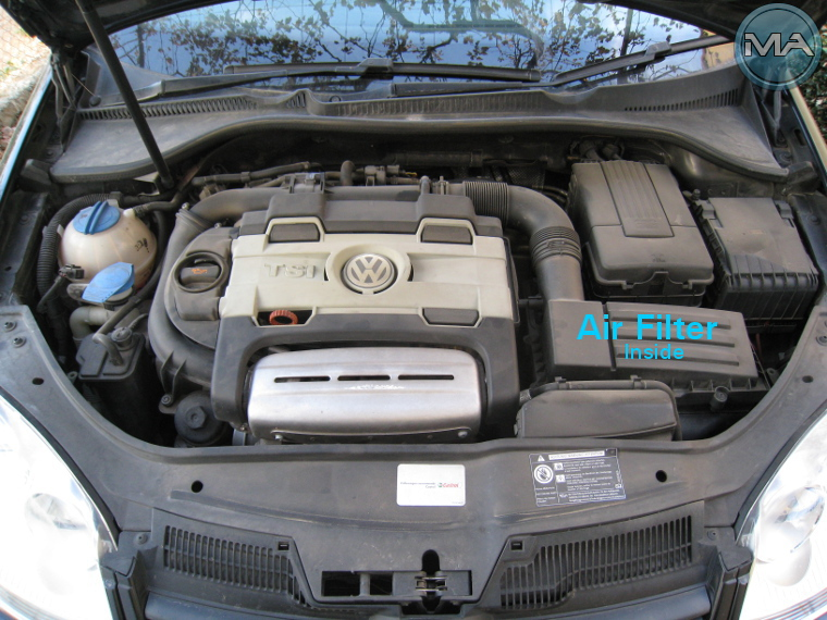 Replace Engine's Air Filter Vw Golf 5 V Tsi Michael Anastasiou