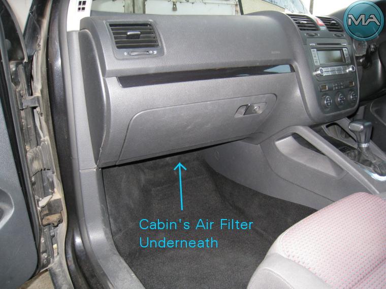 Replace Cabin's AIR FILTER (VW Golf 5 V TSI) - Michael Anastasiou