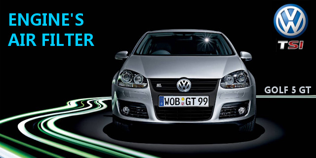 Replace Engine's AIR FILTER (VW Golf 5 V TSI)